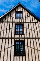 Traditional stone house, Dinan, Côtes-d´Armor, Brittany, France.