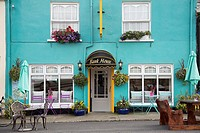 Bank House Cafe Exterior in Sneem, along the Ring of Kerry, County Kerry, Republic of Ireland.