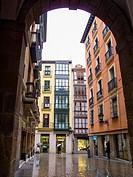 Plaza nueva de Bilbao. Vizcaya. Pais Vasco. España. Europa.