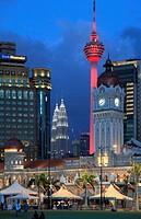 Malaysia, Kuala Lumpur, Merdeka Square, skyline, Sultan Abdul Samad Building,.