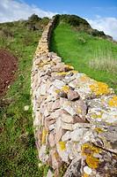 Dry stone wall, Menorca, Balearic Islands, Spain