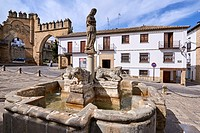 Fountain of the lions, Populo square, Baeza. Jaen province, Andalucia, Spain.