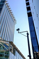 CCTV camera in the Financial district, City of London, UK.