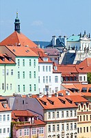 Czech Republic Prague - Picturesque Houses of Lesser Quarter.