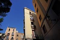 Ciutat Vella buildings. Barcelona, Catalonia, Spain, Europe.