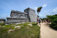Main structure in the mayan site of Tulum, Quintana Roo (Mexico)