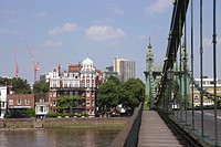 On Hammersmith Bridge London.