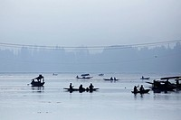 Dal Lake, Srinagar, Jammu and Kasmir, India.