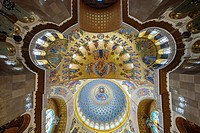 Interior of the Naval cathedral of Saint Nicholas in Kronstadt, Saint Petersburg (Russia).