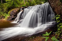 Avery Creek Falls - Pisgah National Forest - near Brevard, North Carolina, USA.
