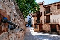 Traditional stone houses, Rubielos de Mora, Teruel, Spain.