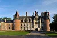West facade of the Chateau de Maintenon, Eure-et-Loir department, Centre-Val de Loire region, France, Europe.