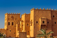 Kasbah of Taourirt Ouarzazate, built by Pasha Glaoui. Unesco World Heritage Site . Morocco, Maghreb North Africa.