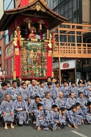 Japan, Kyoto, Gion Matsuri, festival, float, people,.
