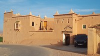 A hotel in traditional architecture. Kelaa M´gouna town. High Atlas. Morocco.