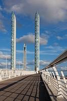 Jacques Chaban-Delmas bridge, Bordeaux, Aquitaine, France.