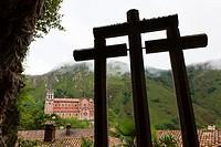 Basilica of Our Lady of Covadonga, Asturias, Spain.