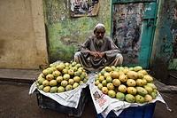 Mango seller, Dhaka, Bangladesh.