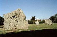 Avebury Stone Circle in Avebury in Wiltshire in England in Great Britain in the United Kingdom.