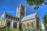 HDR image of St Marys Church in Melton Mowbray Leicestershire UK.