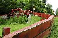 An old bridge over the Delaware canal, Pennsylvania, USA.