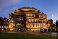 UK, england, London, Albert Hall dusk.