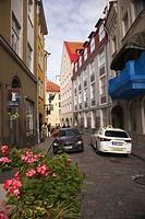 Street scene from the old town, Tallinn, Estonia, Baltic States, Europe.