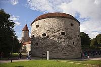 Fat Margaret Tower, a 16th century fortification, now housing the Estonian Maritime Museum, Tallinn, Estonia, Baltic States, Europe.