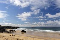 Beach of Port Blanc, Saint-Pierre-Quiberon, Morbihan, Brittany, France, Europe.