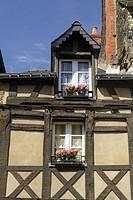 Old house in Josselin, Morbihan, Brittany, France, Europe.