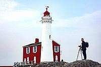 Photographer at Fisgard Lighthousel, Victoria, Vancouver Island, British Columbia, Canada.