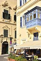 Malta, World Heritage Site, Valletta, Castille square, Castille hotezl and cafe.