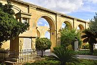 Malta, World Heritage Site, Valletta, Upper Barrakka gardens.