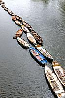 Rowing boats in the Thames at Richmond Upon Thames,Greater London,UK.