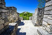 Structure at Mayan city of Calakmul, Calakmul Biosphere Reserve, Campeche, Mexico.