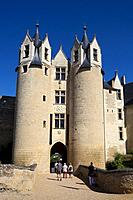 Castle of Montreuil Bellay, Maine et Loire Department, Pays de la Loire Region, Loire Valley, France.