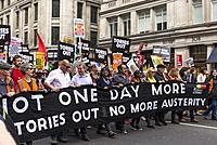Diane Abbot, shadow cabinet minister holding banner at Not One Day More - Tories Out National Demonstration, an Anti-Government and Teresa May protest...