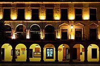 Town hall, Plaza Mayor, Villanueva de los Infantes, Ruta de Don Quijote, Ciudad Real province, Castilla-La Mancha, Spain, Europe