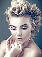 Beauty blondie, retro styled female portrait.