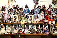 Dolls depicting Native Americans, or Indians, are for sale at The Thing, a travel service station and souvenir shop along Interstate 10, near Willcox,...