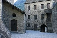 Courtyard of Montebello Castle in Bellinzona