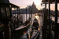 Grand Canal at dusk, Venice, Italy.