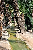 Irrigation canal. Elche, Alicante, Spain.