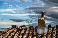 Chimney, La Fresneda, Matarraña, Teruel province, Spain