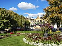 The Royal Hall from Crescent Gardens Harrogate North Yorkshire England.