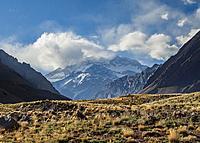 Aconcagua Mountain, Horcones Valley, Aconcagua Provincial Park, Central Andes, Mendoza Province, Argentina.