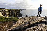 Moher cliffs, Burren region, Ireland, Europe.