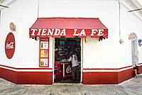 Commercial shop in the historic center, Merida, Riviera Maya, Yucatan Province, Mexico, Central America.