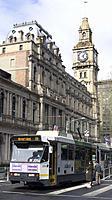 Australia Victoria Melbourne tram and old GPO building.