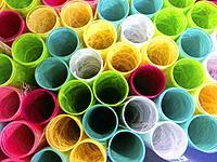 Paper rolls.